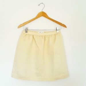 Vineyard Vines Girl's Size L Gold Glitter Skirt
